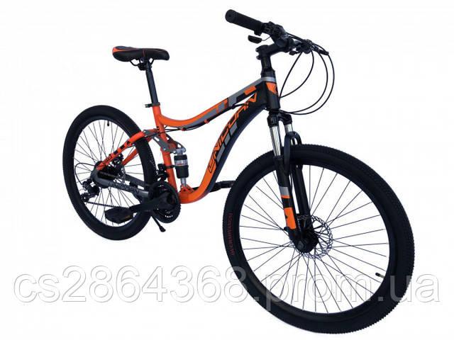 """Велосипед двухподвесный Unicorn Shark18""""/26"""" Orange(хромолибден)"""