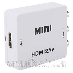 HDMI-RCA(тюльпаны) конвертор переходник, фото 2