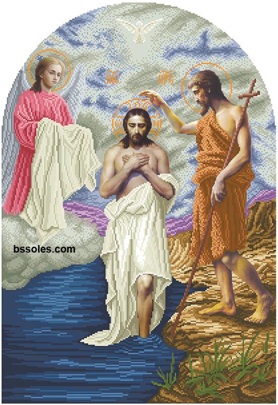 Вишивка бісером Хрещення Господнє (іконостас)