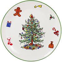 """Блюдо керамическое """"Новогодний хоровод"""" Ø38.5см"""