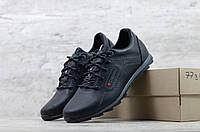 Мужские кроссовки в стиле Columbia, кожа, черные *** 40(26 см), размеры:40,41,42,43,44,45