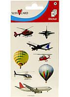 Набор наклеек Susy Card Самолеты 8 шт Разноцветный R2-33033601, КОД: 1760839