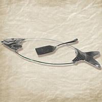 Блюдо для рыбы с ложкой декор Рыба SNT 37206