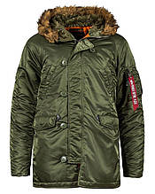 Куртка Alpha Industries Slim Fit N-3B XL Оливковый Alpha-00012-XL, КОД: 1350549