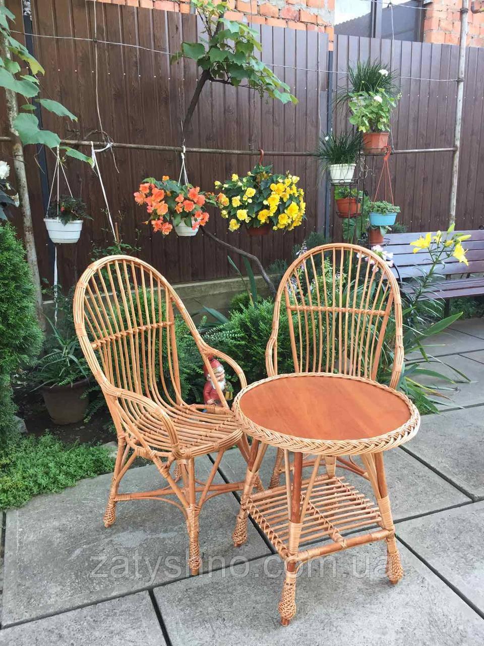 Столик и кресла плетеные  из лозы