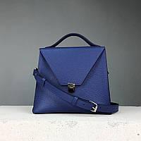 """Женская кожаная сумка """"Пирамида"""" TREBA (сумка трапеция, кросс-боди) фиолетовая"""