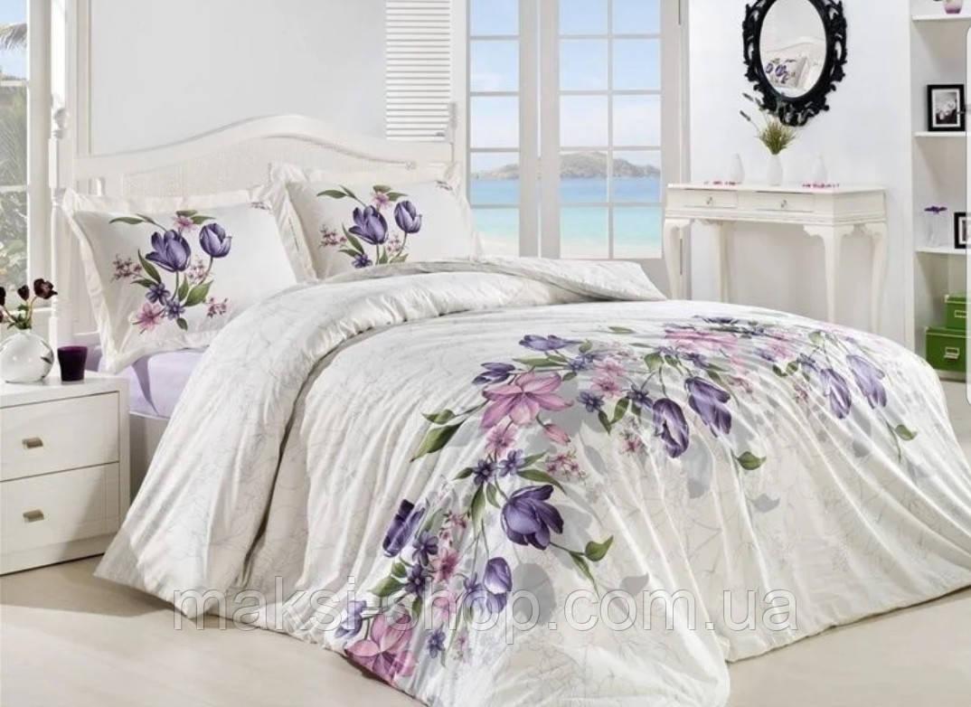 Комплект полуторного постельного белья  хлопок бязь люкс