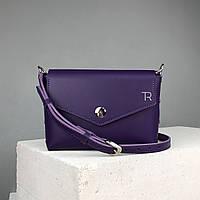 """Кожаная женская сумка """"Мини"""" TREBA (кросс-боди, cross-body) Фиолетовая"""