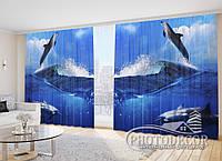 """Фото Шторы """"Дельфины 1"""""""
