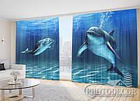 """Фото Шторы """"Дельфины 4"""""""
