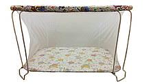 Манеж детский игровой KinderBox Сова классический с мелкой сеткой kmk 337, КОД: 1350046