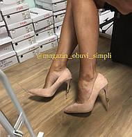 Туфлі жіночі класичні пудрові,розові, фото 1