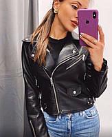 Женская качественная кожаная куртка косуха Разные цвета, фото 1