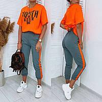 Яркий женский летний спортивный костюм 13-305, фото 1