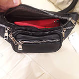 Женская сумка бананка black, фото 3