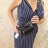 Женская сумка бананка black, фото 6
