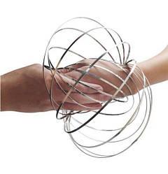 Игрушка-антистресс Кинетические кольца Magic Ring Серебристый