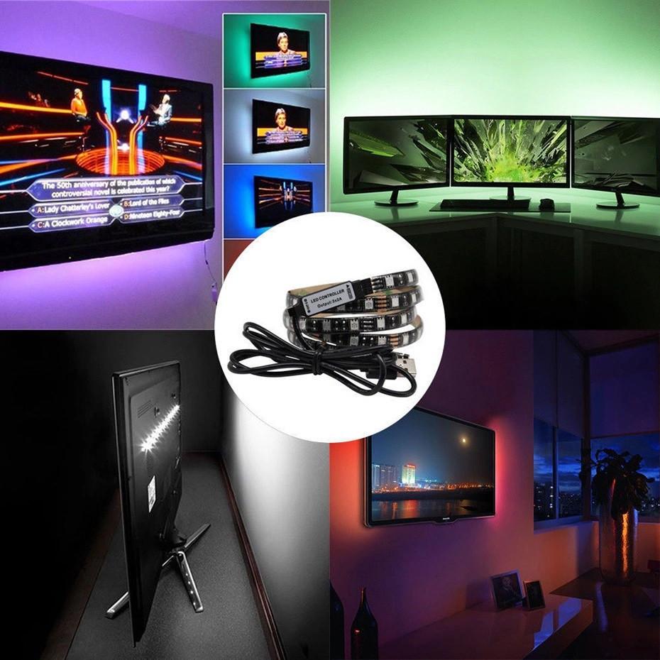 RGB 3 метра LED USB светодиодная подсветка телевизора TV