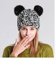 Женская шапка Fаn Черно-белый AL7992, КОД: 1493258