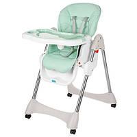 Раскладной стульчик для кормления «Bambi» M 3216-5-2 для девочки или мальчика мятный цвет