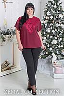 Утепленные чёрные брюки для женщин больших размеров