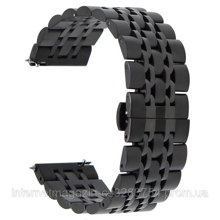 Ремешок BeWatch classic Link стальной для Xiaomi Amazfit Stratos | Pace | GTR 47mm для Black (1021401)