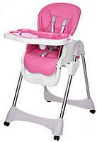 Раскладной стульчик для кормления «Bambi» M 3216-2-8 для девочки розовый