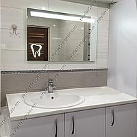 Зеркало для стоматолога с LED подсветкой, 800х600мм, L33А, фото 1