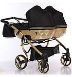 Универсальная коляска для двойни Junama Mirror Satin Duo 03 Gold, фото 3