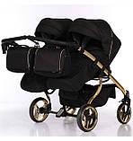 Универсальная коляска для двойни Junama Mirror Satin Duo 03 Gold, фото 4