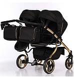 Универсальная коляска для двойни Junama Mirror Satin Duo 03 Gold, фото 5