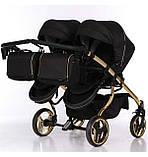 Универсальная коляска для двойни Junama Mirror Satin Duo 03 Gold, фото 6