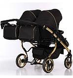 Универсальная коляска для двойни Junama Mirror Satin Duo 03 Gold, фото 7