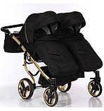 Универсальная коляска для двойни Junama Mirror Satin Duo 03 Gold, фото 8