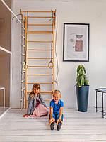 Детская шведская стенка РАСТИШКА с канатным набором. Шведська стінка