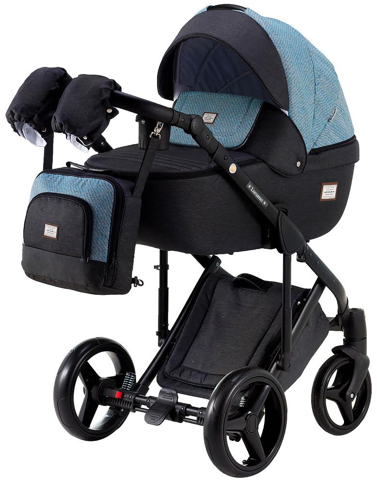 Дитяча універсальна коляска 2 в 1 Adamex Luciano Jeans Y40
