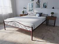 Кровать MELBI Элис Люкс Двуспальная 120х190 см Бордовый лак, КОД: 1389461