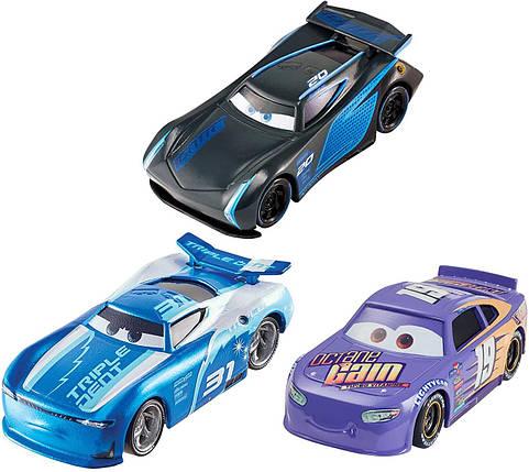 Ігровий набір трьох героїв з мультфільму Тачки 3 (Disney Pixar Cars Next Gen Racers 3-Pack) від Mattel, фото 2