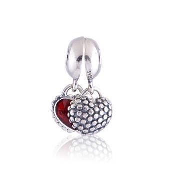 Подвеска-шарм «Мать и дочь» из серебра в стиле Pandora