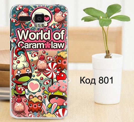 Чехол для lenovo a808t панель накладка с рисунком world of caramel