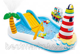 Надувний Дитячий Ігровий Центр з Гіркою Intex Весела Рибалка 218 х 188 х 99 см
