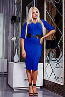 Платье синее Лаванда D3 Медини 50-52 размеры