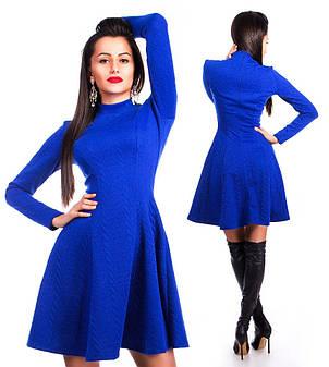 Платье косичка длинный рукав трикотаж, фото 2