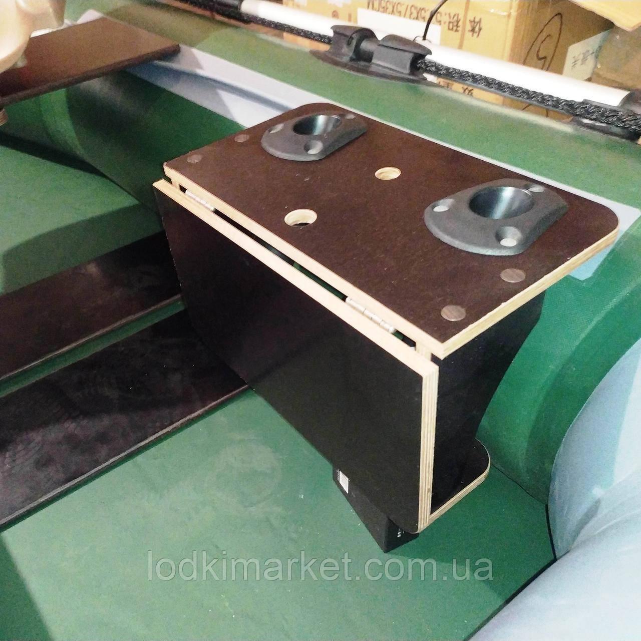 Подставка под спиннинги и эхолот с откидным столиком
