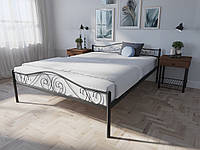 Кровать MELBI Элис Люкс Двуспальная 120х190 см Черный, КОД: 1389458