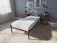 Кровать MELBI Элис Односпальная 80х200 см Бордовый лак, КОД: 1390241