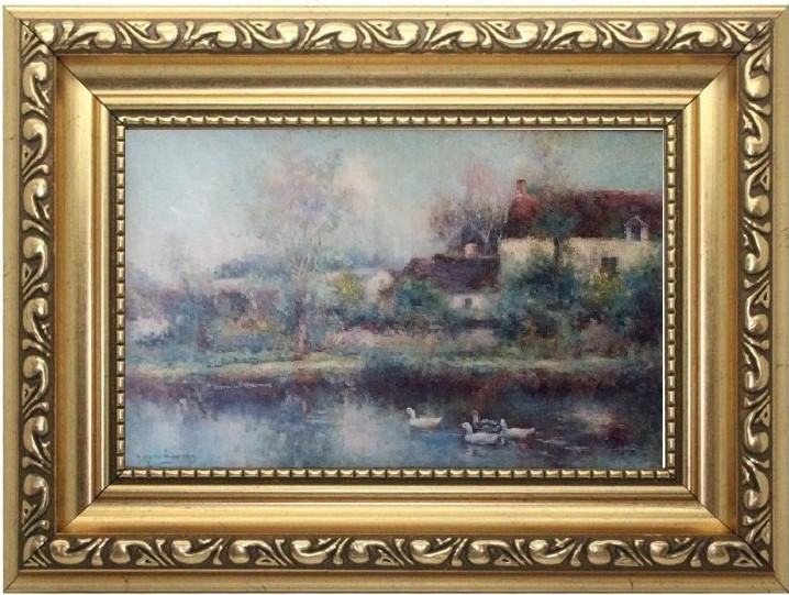 Картина Сельский пейзаж М.Корочанский, нач.ХХ-го века