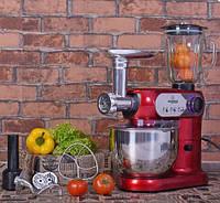 Кухонный Комбайн 3 В 1 Crownberg CB 3404 Тестомес Мясорубка Блендер Мощность 2200 Вт