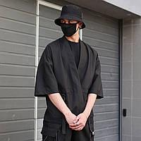 Кимоно чёрного цвета от бренда ТУР модель Лю Кан (Liu Kang),размер S,M,L,XL L