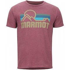 Футболка чоловіча Marmot Coastal Tee SS M Burgundy Heather (MRT 901037.6823-M)